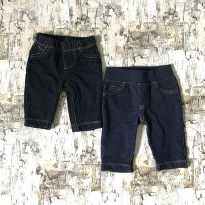 [3 FOR $22] Newborn Pull-On Denim Pants Set